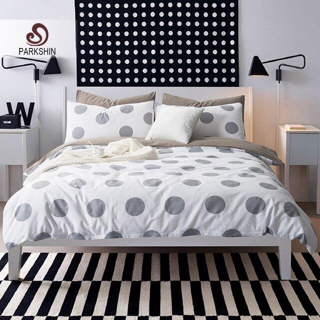 parkshin nordic style bedding sets 100 cotton duvet cover set dot bed sheet geometric bed