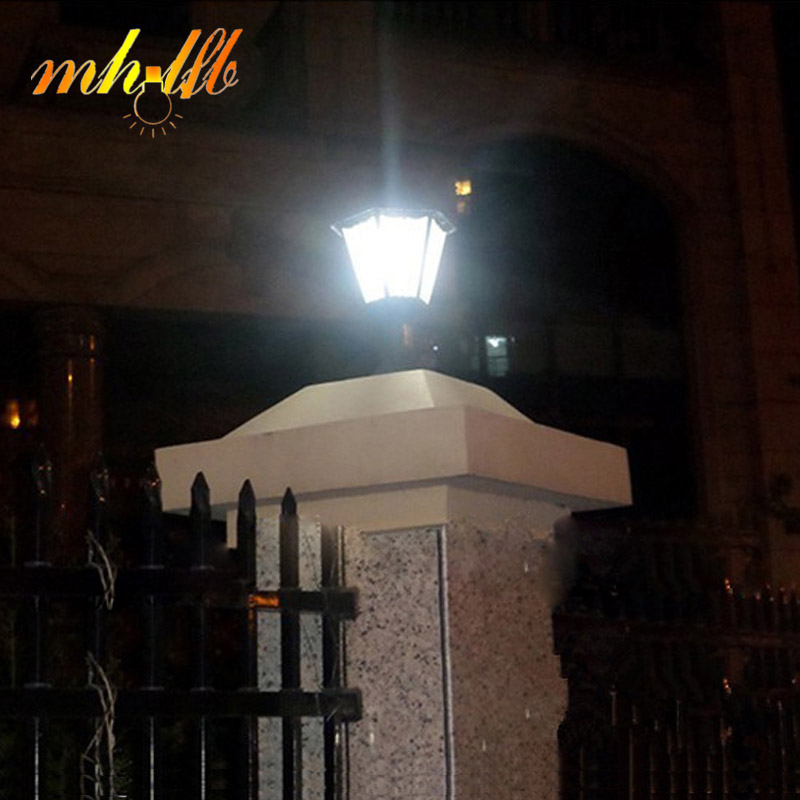 Led solar panel wall lamps lustre sconce porch home garden for Outdoor landscape wall lighting