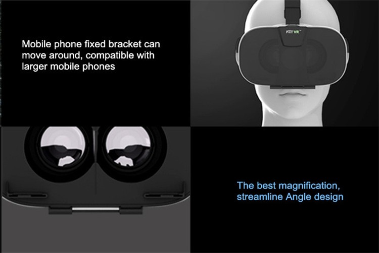 FIIT VR 3D Virtual Reality Video Helmet Cardboard 2.0 VR Glasses Box for 4.0-6.5 inch Smartphone Lightweight Ergonomic Design (19)