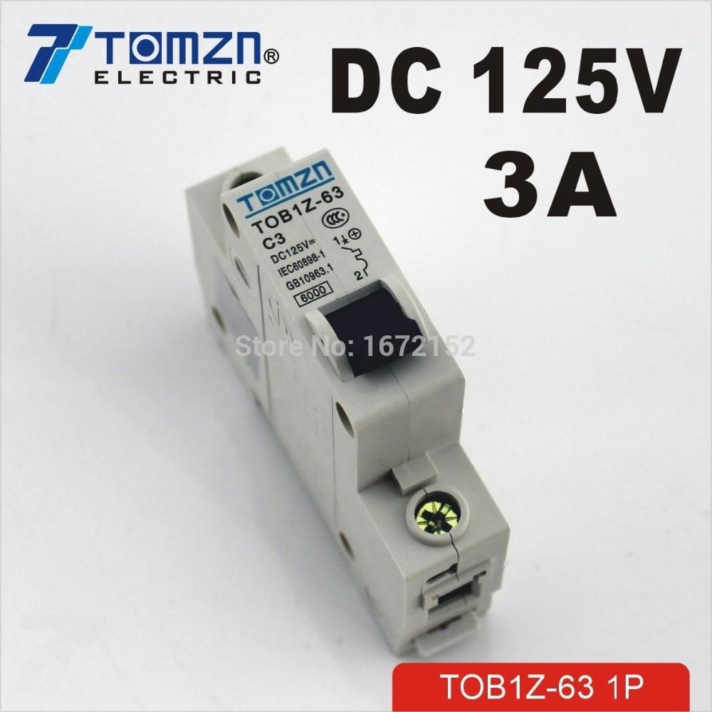 1P 3A DC 125V Circuit breaker MCB цена