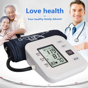 Soins de Santé à domicile 1 pcs Numérique Lcd Bras Moniteur de Pression Artérielle Battement de Coeur Indicateur Machine Tonomètre pour De Mesure Automatique