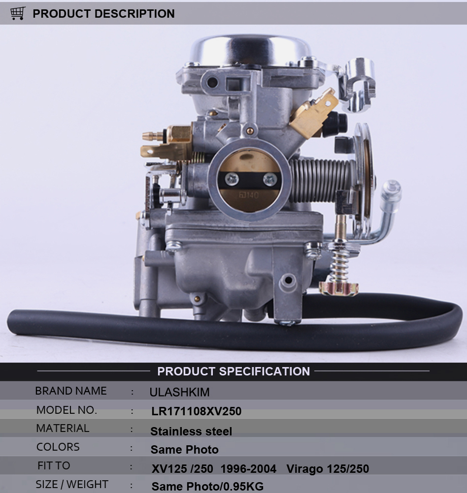 Carburetor XV250 XV125 QJ250 XV 250 XV 125 Aluminum Carburetor Assy For Virago 125 XV125 1990-2014 VSTAR 250 carburetor xv250 xv125 qj250 xv 250 xv 125 aluminum carburetor assy for virago 125 xv125 1990 2014 motorcycle parts fuel