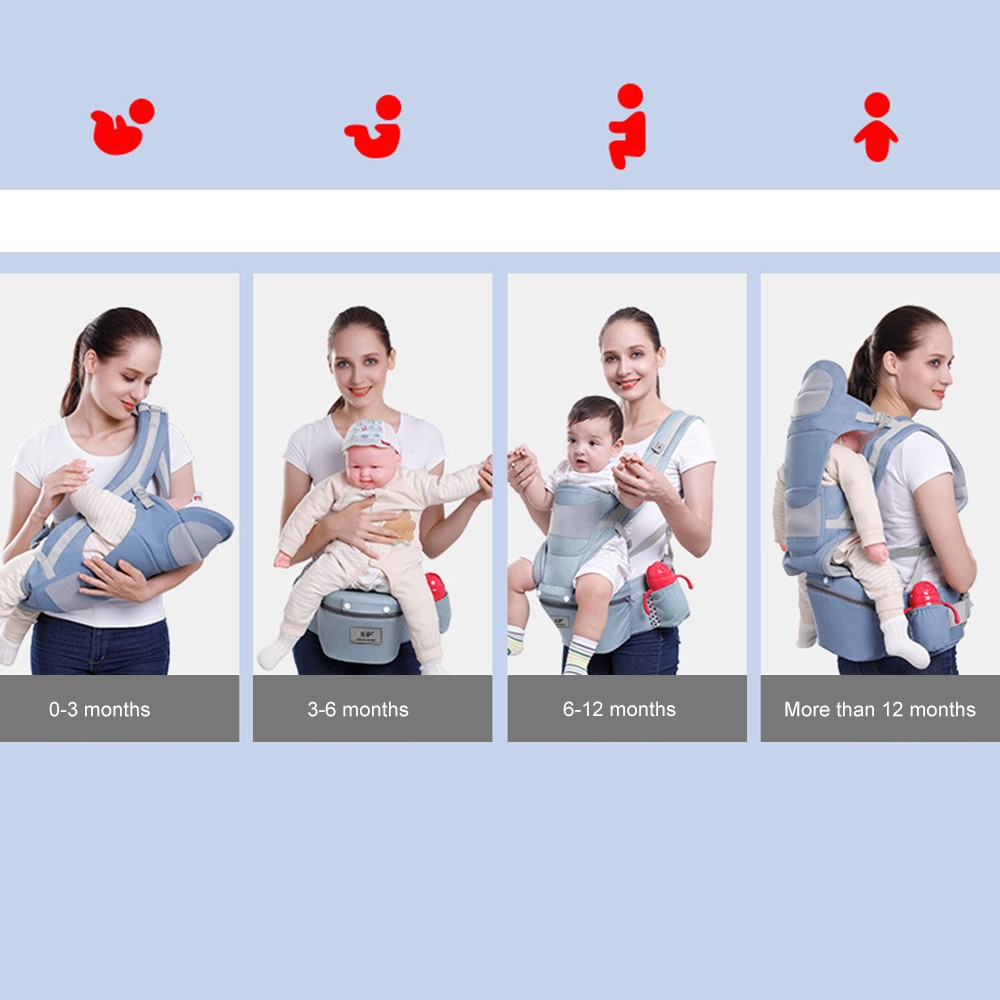 0-48M Ergonomic Baby Carrier Infant Baby Hipseat Carrier Front Facing Baby Wrap Sling For Travel 5