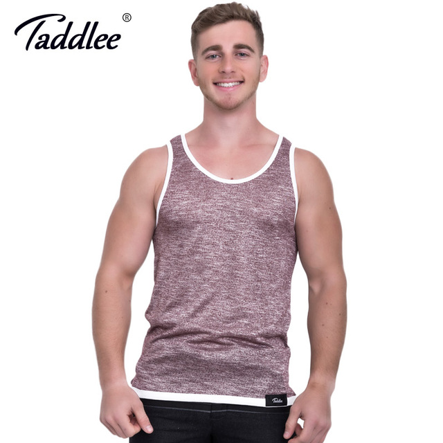 c915af354 Taddlee Brand Men's Tank Top Cotton Solid Color Tee Shirts Sleeveless  Casual Fashion Clothes Men 2017