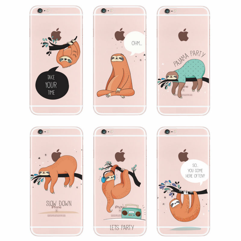 Para iphone 6 4s 5s 6 s 6 plus 7 plus 7 5 sí 5c samsung galaxy zootopia pereza a