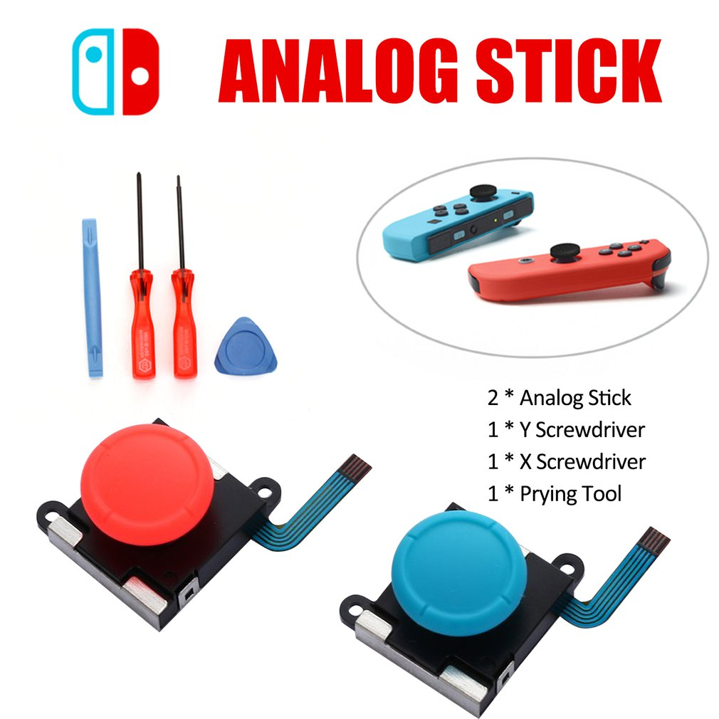 3D Analog Gamepad Thumb Stick for Nintend Switch NS Joy Con Joystic Sensor Module Repair Tool for JoyCon Replacement