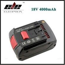 Eleoption 18 В 4.0Ah 4000 мАч Литий-Ионная Аккумуляторная Батарея для Bosch 17618 BAT609 BAT618 Со СВЕТОДИОДНОЙ Подсветкой