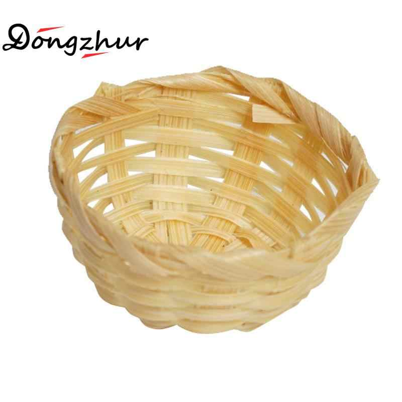 Dongzhur Dollhouse Miniatures 1:12 Accessories Abamboo Baskets Bath Supplies Pure Dollhouse Miniature Handmade Bamboo Baskets