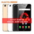 OUKITEL K4000 Plus 5.0'' 4G Mobile Phone Android 6.0 MTK6737 Quad Core 1.3GHz 2GB RAM 16GB ROM 13MP+5MP 4100mAh Smart Cellphone