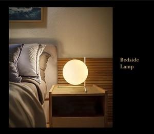 Image 3 - Modern LED Table Lamp Desk Lamp Light Shade Glass Ball Table Lamp Desk Light for Bedroom Living Room Floor Bedside Gold Designs
