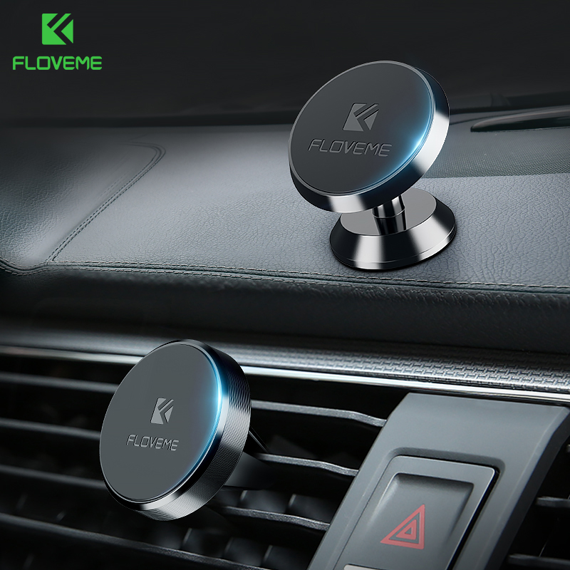 FLOVEME Magnetic Car Phone Holder for iPhone XS MAX Xiaomi Magnet Mount Car Holder for Phone in Car 2 Style Mobile Phone Holders