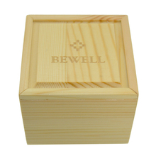 BEWELL Watch Box High Quality Beautiful Solid Wood Watch Box Wooden Box Elegant Square Gift Box with Soft Pillow