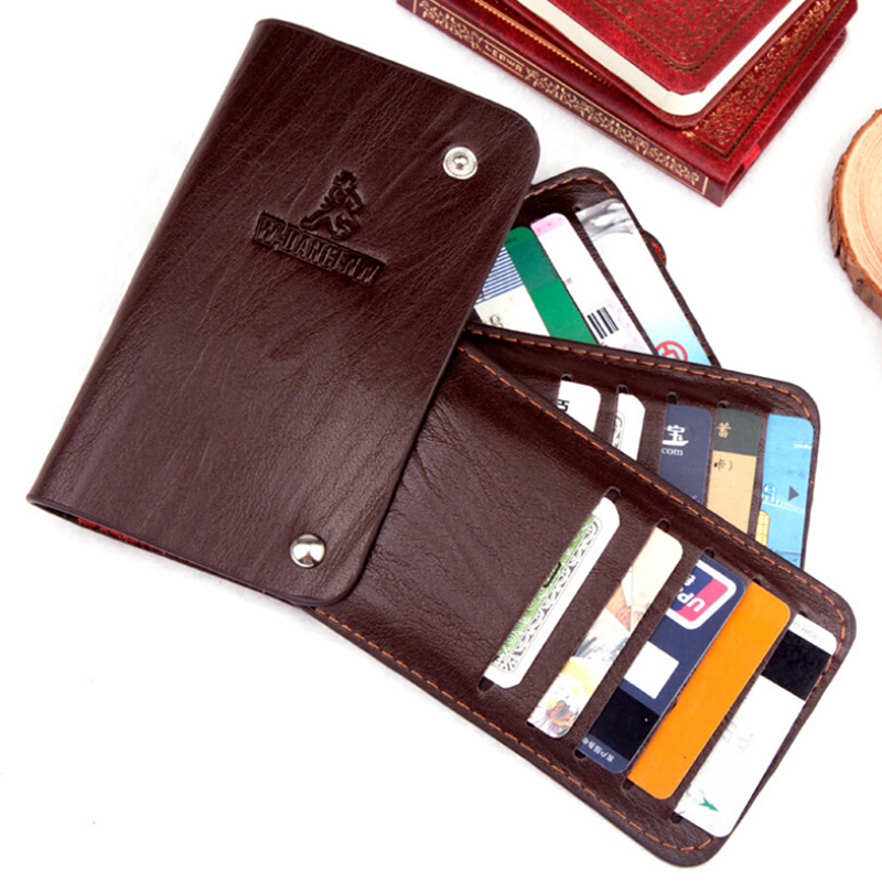 2016 Hot Sale Fashion Men And Women Style 3 Colors ID Holders Quality Split Leather Mult ...