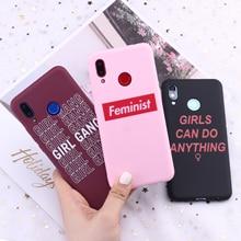 For Huawei Honor Mate 10 20 Nova P20 P30 P Smart Girls Feminist Girl Gang Candy Silicone Phone Case Cover Capa Fundas Coque