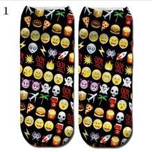 1 pack = 10PC = 5 pairs New Christmas Women's Sock Slippers Wholesale Digital 3D Printing Socks Cartoon Female Boat Socks SD08