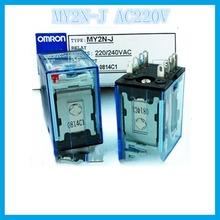MY2NJ MY2N-J AC220V  2A2B 5A OMRON  relay two open two closed 14 needle electronic component  solid state relays g2r 1 snd s dc24v 24vdc 10a omron relay one open one closed 5 needle electronic component solid state relays