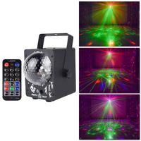 18w Led Disco Light Stage Lights DJ Disco Ball Lamp Sound Activated Laser Projector Effect Light for Music Christmas Party