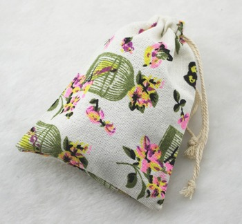 48be59c8b 10x14 cm Bird vintage algodón arpillera yute regalo del caramelo del favor  Bolsas boda Bolsas de tela