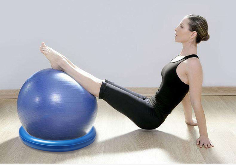 Diameter Yoga ball  fixed ring Yoga Balls Pilates Fitness Gym Balance Fitball Exercise Workout 60cm 19