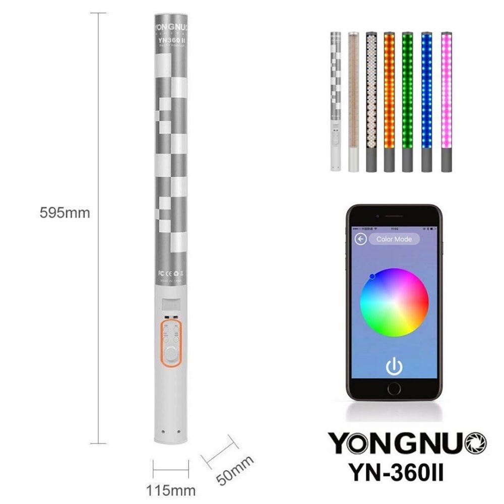YONGNUO YN360 II GLACE/Pixel Bâton Combo LED Bicolore App contrôle Bluetooth Vidéo Lumière 3200 k 5500 k RGB coloré Photo LED Bâton