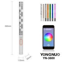 YONGNUO YN360 II ICE/Пиксельная ручка комбо двухцветный светодиодный приложение управления Bluetooth видео 3200 k 5500 k RGB Красочная Фотография СВЕТОДИОДНЫЙ