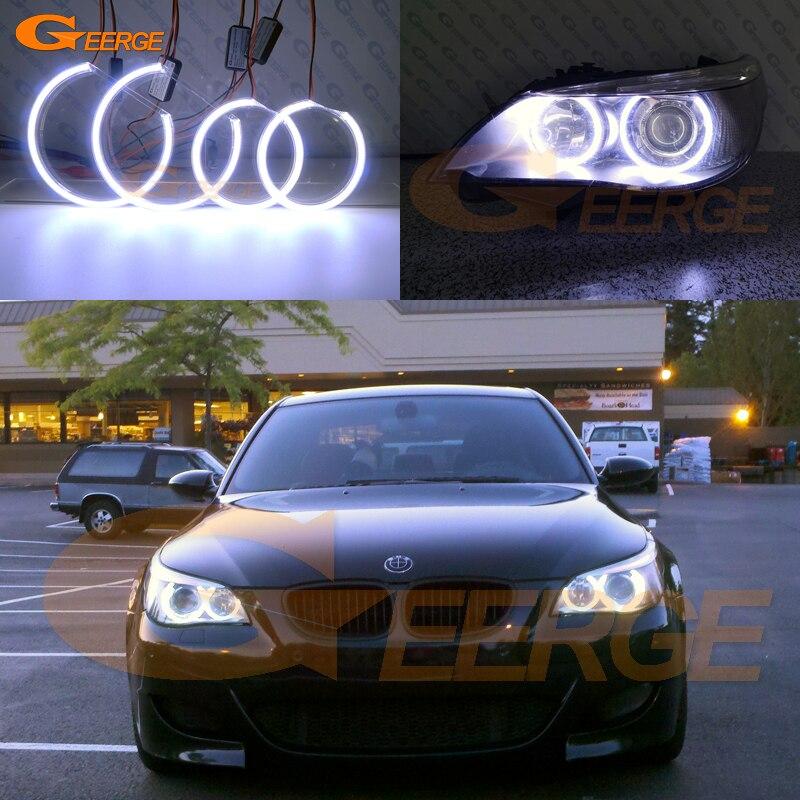 For BMW E60 E61 M5 520i 525i 530i 540i 545i 550i Pre LCI 2003-2007 Excellent Ultra Bright COB Led Angel Eyes DRL Halo Rings