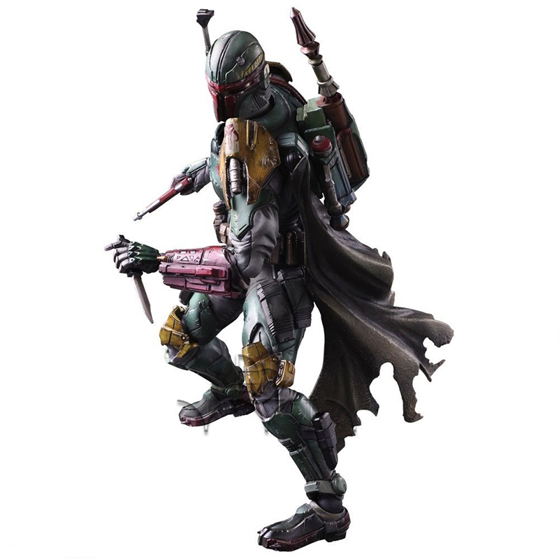 STAR WARS VARIANT PLAY ARTS Kai Boba Fett PVC painted action figure super street fighter iv akuma gouki white variant play arts kai action figure