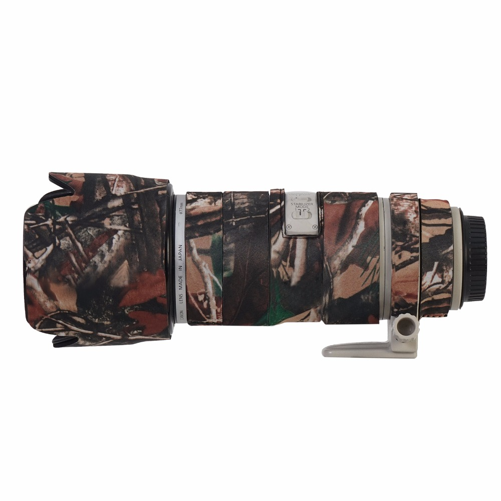 Lens Camouflage Neoprene Rain Cover For Canon 70 200mm F2 8IS lens Rain Cover Protective Case