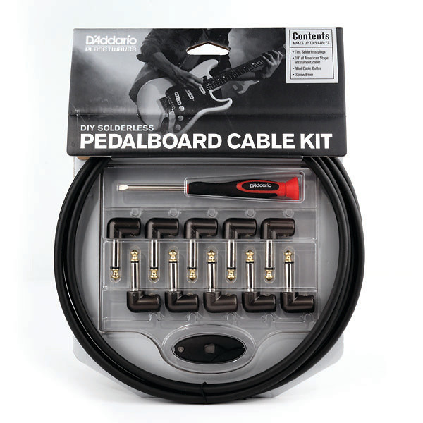 D'Addario Planet Waves PW-GPKIT-10 Cable Station DIY Solderless Pedal Board Cable Kit, 10 ft 10 Plugs цена