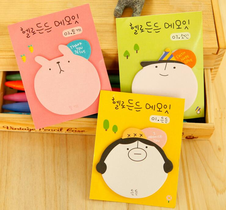 Korean Cartoon Sticky Notes Self-Adhesive Memo Pad Daily Notepads #017 School Supply Bookmark Post it Label