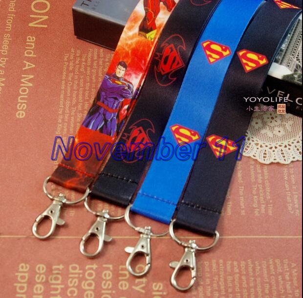 Lot mixed 50Pcs superman Style mobile Phone lanyard Key chain Strap Charm Gift Free shipping WW612