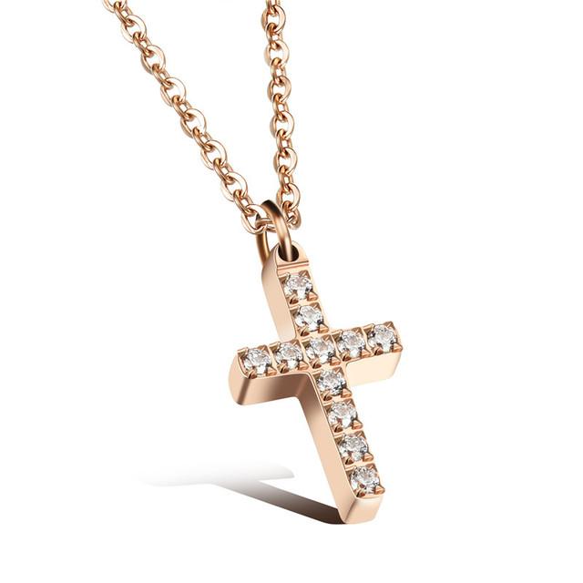Zirconia Necklace Stainless Steel