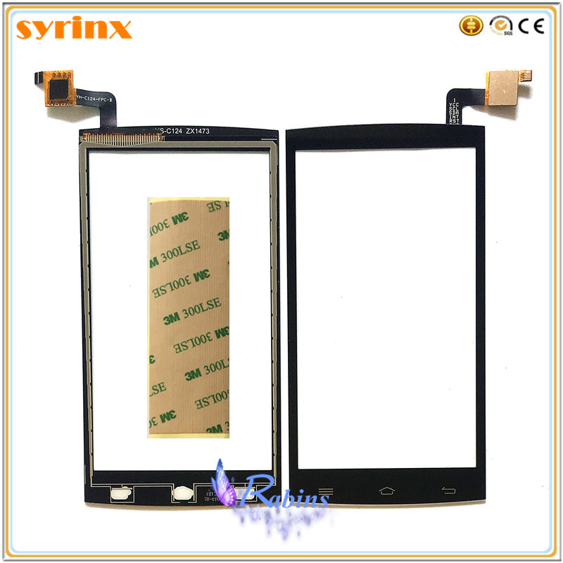 SYRINX Mobile Phone Touch Panel Touchscreen For Micromax Q375 Touch Screen Digitizer Front Glass Sensor 3M TAPE Touchpad