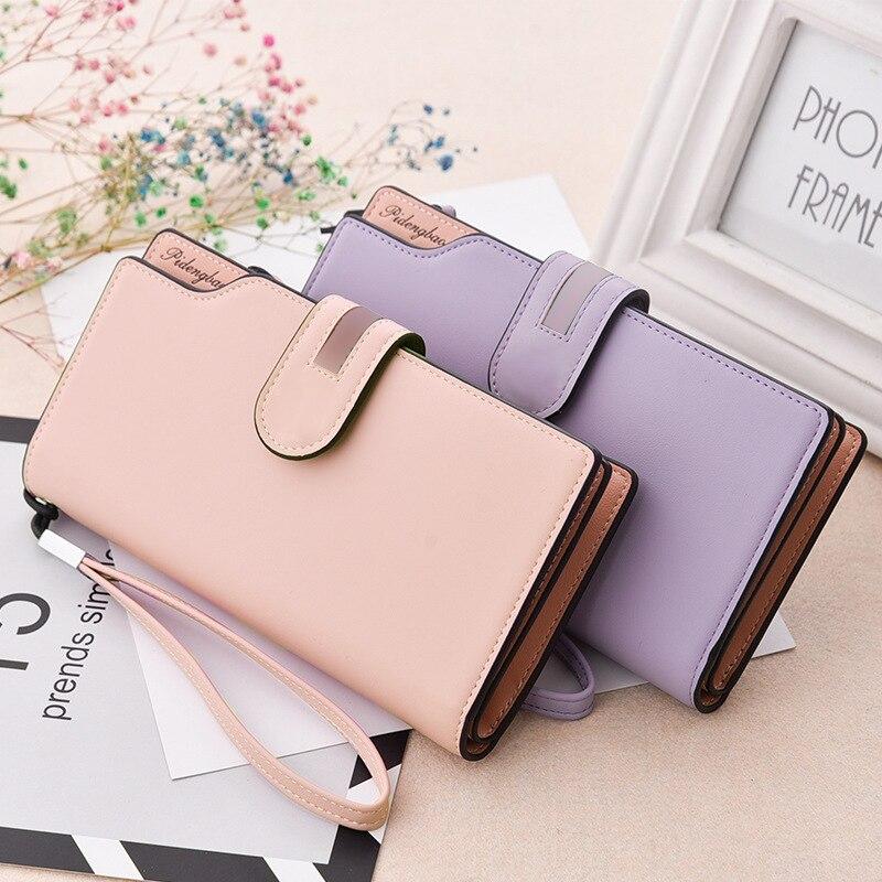 2018 New Design Leather Wallets Women Brand Purses For Woman Wallet Long Hasp Female Purse Card Holder Clutch Feminina Carteira
