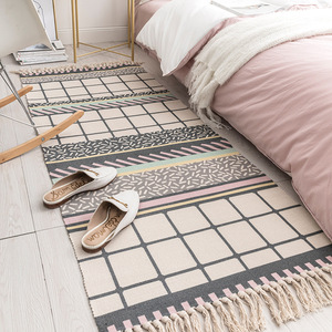Image 2 - 60x180cm רטרו שטיחים לבית סלון רך ציצית בית שטיחים שולחן רץ דלת מחצלת עיצוב הבית