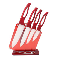 6PCS/SET Hollow handle ceramic knife set creative kitchen gadget red wedding cake knife wedding cake knife ZP01051132