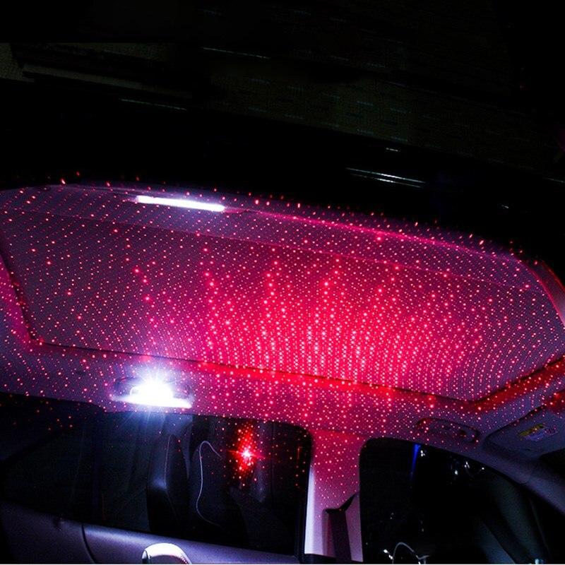 Gran venta USB LED coche atmósfera lámpara Interior estrella ambiente luz colorida música sonido lámpara Navidad Interior luces decorativas