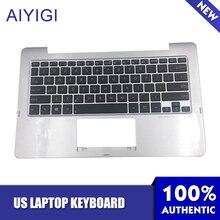 Aiyigi Новинка Клавиатура для ноутбука Asus TX201 TX201LA Palmrest 90NB03I1-R31US0 9Z-N8KSU-801 нам макет Тетрадь аксессуары