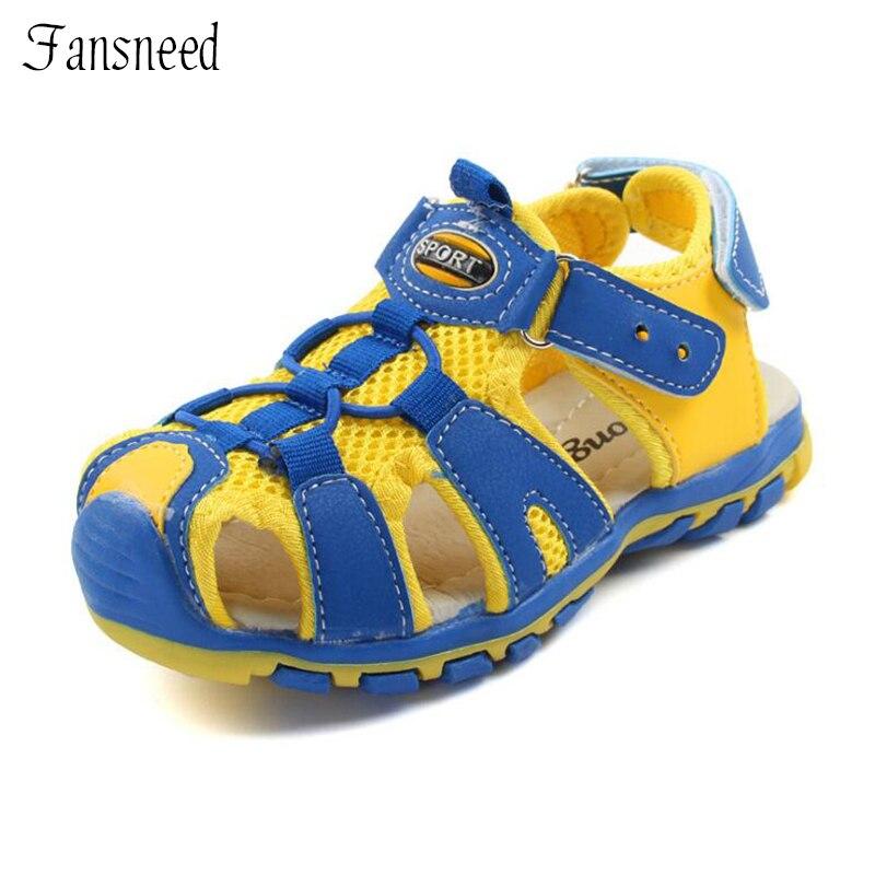 Children sandals boys beach sandals 2018 summer baby sandals anti-kick sports sandals