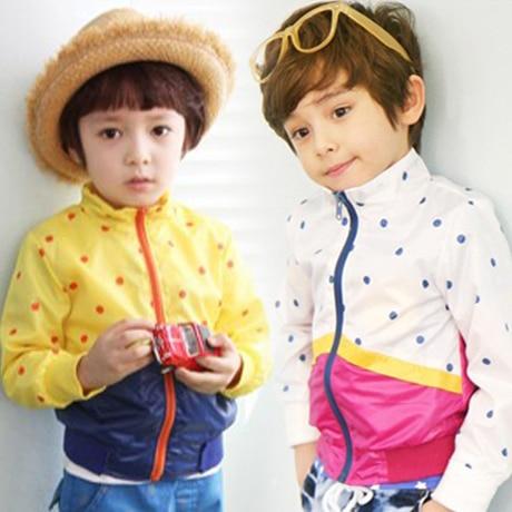 2016 autumn boys clothing girls clothing baby child long-sleeve trench Jacket coat outerwear
