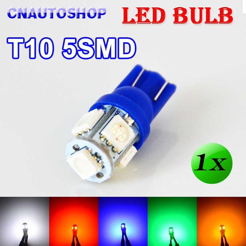 Hippcron 1 X T10 5SMD LED หลอดไฟ 168 194 W5W ไฟรถ 5050 SMD หลอดไฟอัตโนมัติ 12V XENON 5 สีสีขาว/สีฟ้า/สีแดง/สีเหลือง/สีเขียว