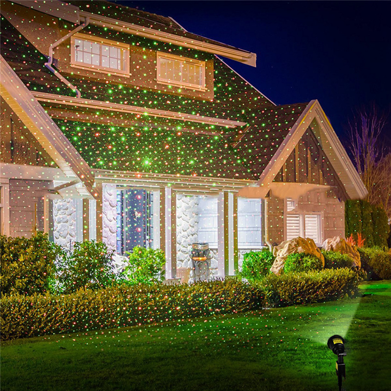 Magic Stage Effect Light Fairy Sky Star Laser Projector Lamp Waterproof Landscape Park Garden Christmas Decorative Lamp
