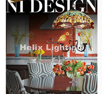 Скандинавские Новые популярные подвесные светильники для птиц, детская спальня, лампы для попугая, для балкона, наружное украшение для дома