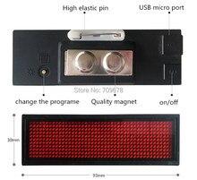 2017 Высокое Качество LYSONLED HD-NT44R Красный Цвет Прокрутка Сообщение Светодиод Имя Знак, 44×11 Точек Перезаряжаемый Светодиодный Имя Тега Для События