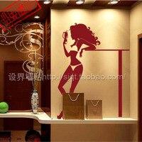 セクシー な美容装飾バー/ステッカー/美少女ビリヤード ルーム ktv装飾ステッカー/ガラス スティッ