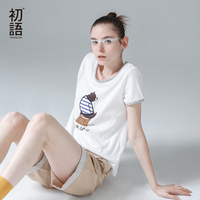 Toyouth 2016 Summer New Arrival Women T Shirts Character Print Short Sleeve O Neck Tees Cotton