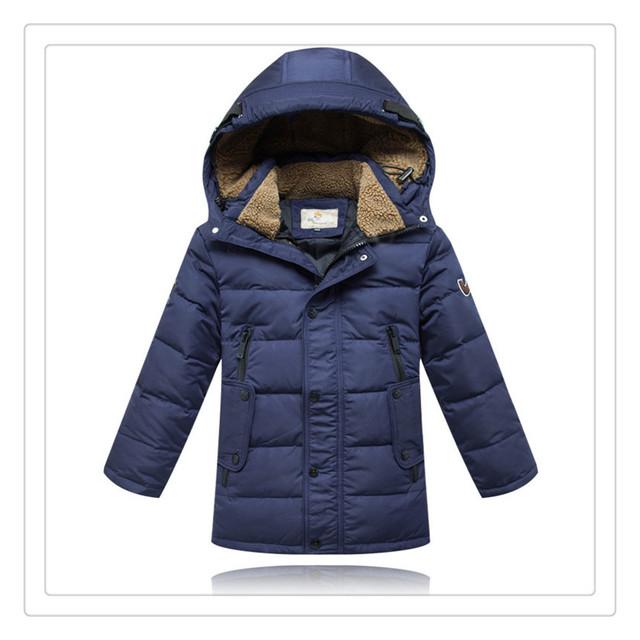 Niños chaquetas de moda 2017 nuevos muchachos gruesa hoodies childen warterproof abajo cubre la chaqueta parkas ropa de invierno 6 ~ 16 votos afirmativos de edad