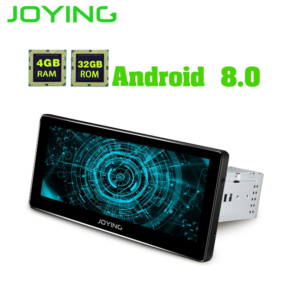 JOYING 4 gb di RAM 1 Din HD 8.8 ''Android 8.0 Auto Radio Audio 8 core di unità di testa Stereo HU registratore GPS Autoradio supporto Carplay