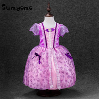 2017 Rapunzel Girls Princess Cinderella Girl Lace Dress Costume Cosplay Baby Girls Infant Toddlers Children Kids