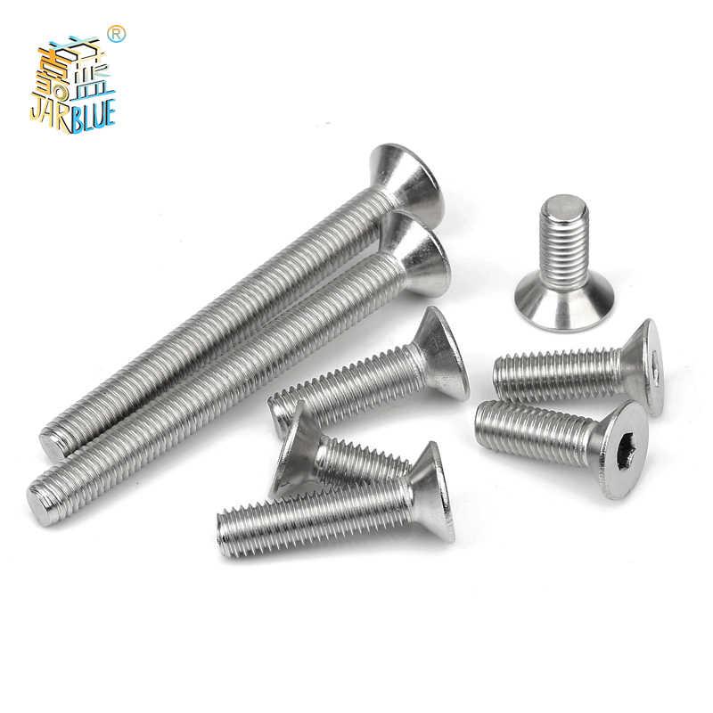 50 /10pcs M2 M2.5 M3 M4 M5 M6 M8 Din7991 Stainless Steel 304 Or Black Grade 10.9 Hexagon Hex Socket Flat Head Countersunk Screw